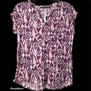 Architect Printed Linen Tee NWT